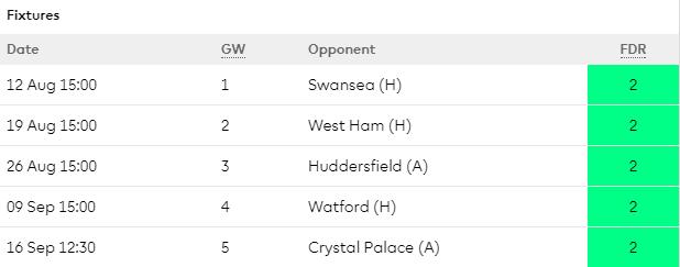 17/18 Southampton Opening Fixtures