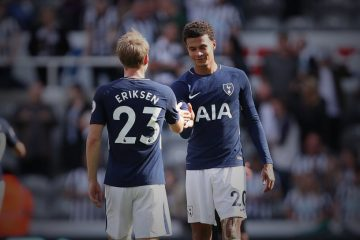 Dele Alli + Christan Eriksen Celebration