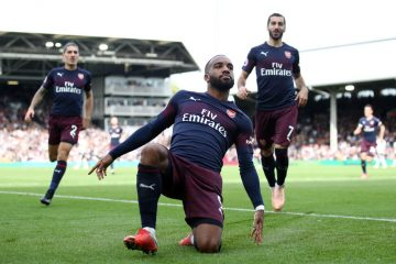 Lacazette vs Fulham 2018