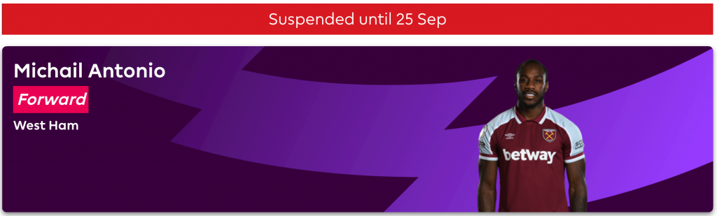 Status of Suspended FPL Player - Guide to FPL